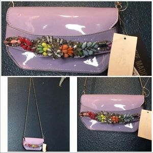 NWT Steve Madden lavender purple clutch crossbody